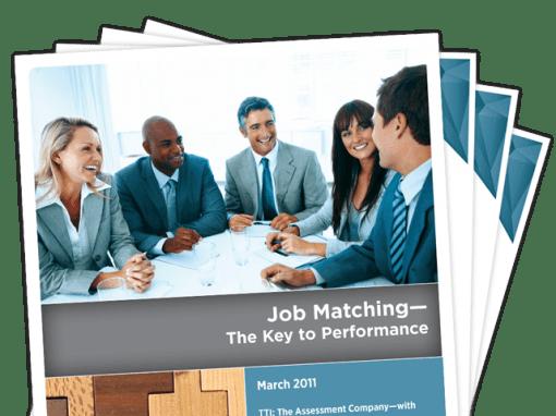 Job Matching — The Key to Performance