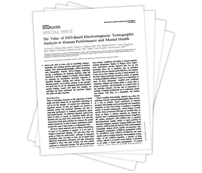 The Value of EEG-Based Electromagnetic Tomographic Analysis in Human Performance and Mental Health