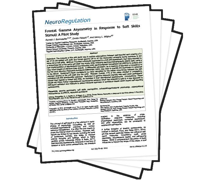 Frontal Gamma Asymmetry in Response to Soft Skills Stimuli: A Pilot Study
