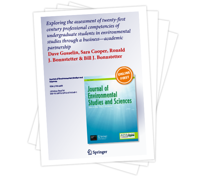 Exploring the Assessment of Twenty-First Century Professional Competencies of Undergraduate Students in Environmental Studies Through a Business-Academic Partnership