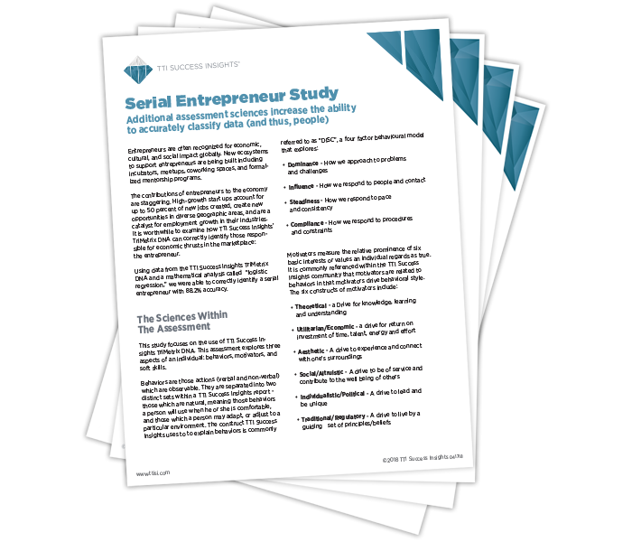 Serial Entrepreneur Study Additional Assessment Sciences Increase the Ability to Accurately Classify Data (And Thus, People)