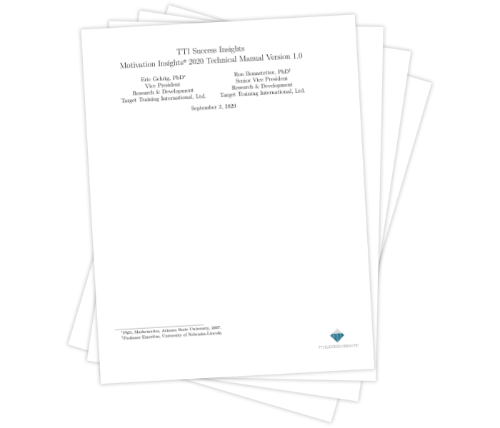 Motivation Insights® 2020 Technical Manual Version 1.0