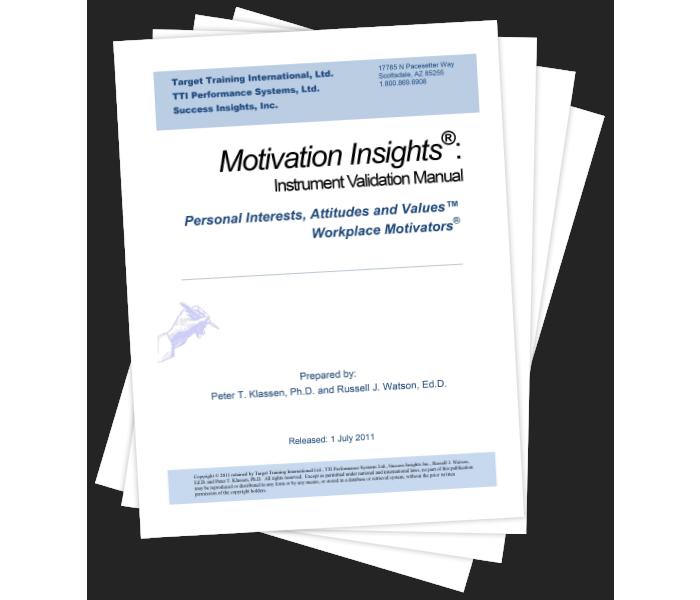 Motivation Insights®: Instrument Validation Manual